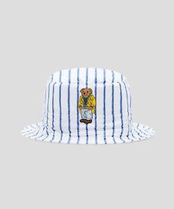 c280cfa3d995c Polo Ralph Lauren Polo Bear Reversible Crest Bucket Hat BLUE STRIPE ...
