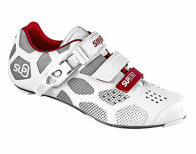 Suplest Supzero Carbon Racing Cycling Road Shoe White Look 3-bolt New