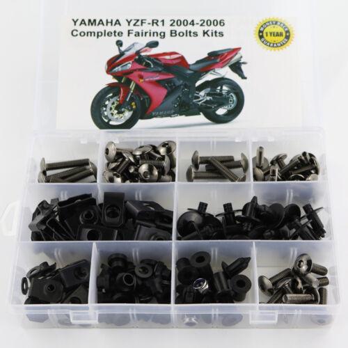 Fairing Bolts Screws Fasteners Kit For Yamaha YZF R1 2004 2005 2006 Titanium
