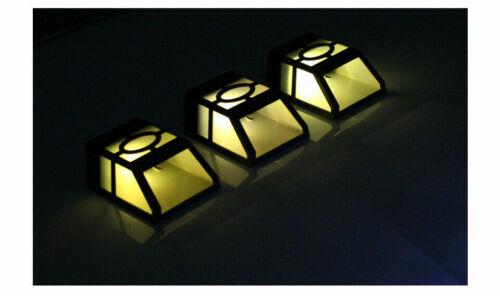 Energie Solaire Lumière DEL Montage Mural Extérieur Jardin Chemin Paysage Clôture Lampe RD81