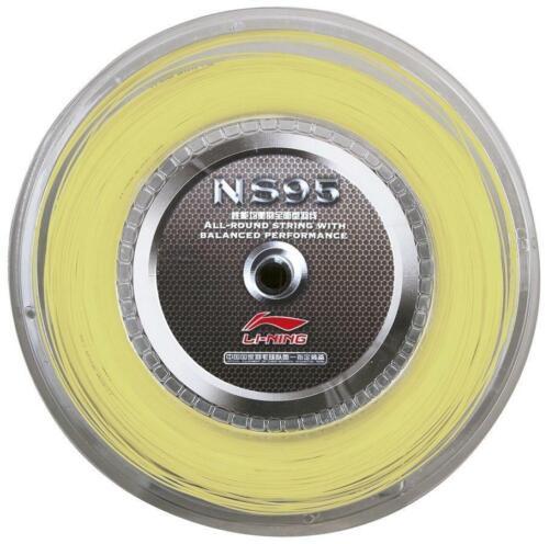 Li-Ning NS95 Badminton Racket String 200 m Reel Set-jaune