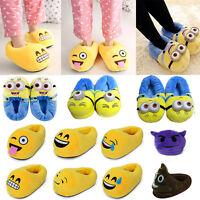 3D Emoji Minions Plüsch Hausschuhe Unisex Schuhe Pantoffeln Schlappen Slippers