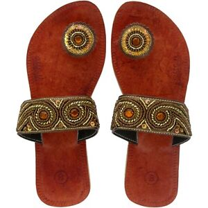 d80e8abdb Image is loading Paduka-Sandals-FiFeet-designer-leather-button-toe-flip-