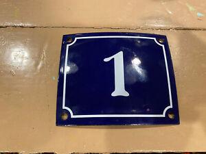 Vintage Style Blue Enamel Porcelain French House Number Door Metal Sign 1518