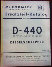 Mc Cormick Farmall D 440 Standard Ersatzteil Katalog