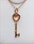 thumbnail 1 - Tiffany & Co 18K Rose Gold Heart Key Pendant 4 Necklace w/.Pouch