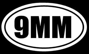 9MM-Vinyl-Decal-Sticker-Car-Window-Wall-Bumper-Gun-Ammo-AR-15