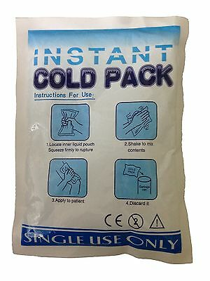 Instant Cold Pack Cooling Therapy Emergency 19x13 CM Relief for Injured Muscles