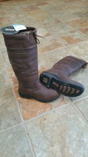 BNIB Clearance Toggi Canyon Waterproof Long Country Boots Size 40 Chocolate
