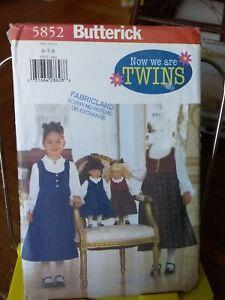 Oop-Butterick-5852-girls-jumper-blouse-matching-dolls-18-034-sz-6-8-NEW