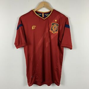 Spain-Soccer-Jersey-2008-Official-Product-Mens-Size-Medium-Spanish-Football
