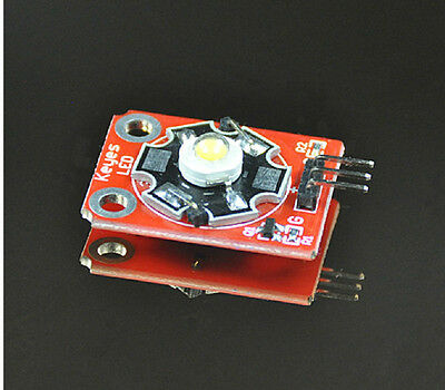 2PCS KEYES 3W LED Module High-Power with PCB Chassis for Arduino STM32 AVR