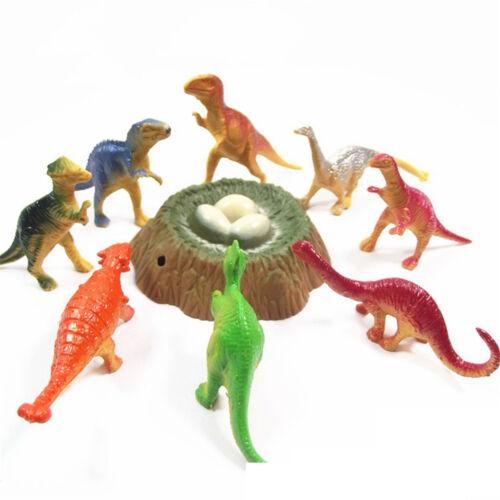 Plastic Dinosaur Model Action/&Figure Toy Kids Sand Table Scenery Accessory AL