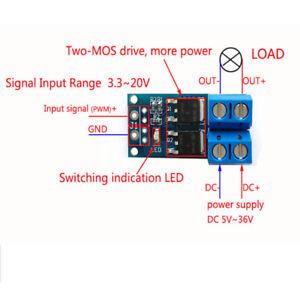 5pcs MOSFET MOS FET Trigger Switch Driver Module PWM Regulator Control Panels