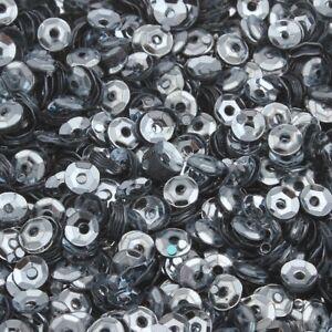 1200-Pailletten-4mm-Silber-Grau-Gewoelbt-im-Blister-Kleidung-Schmuck-BEST-PAI19