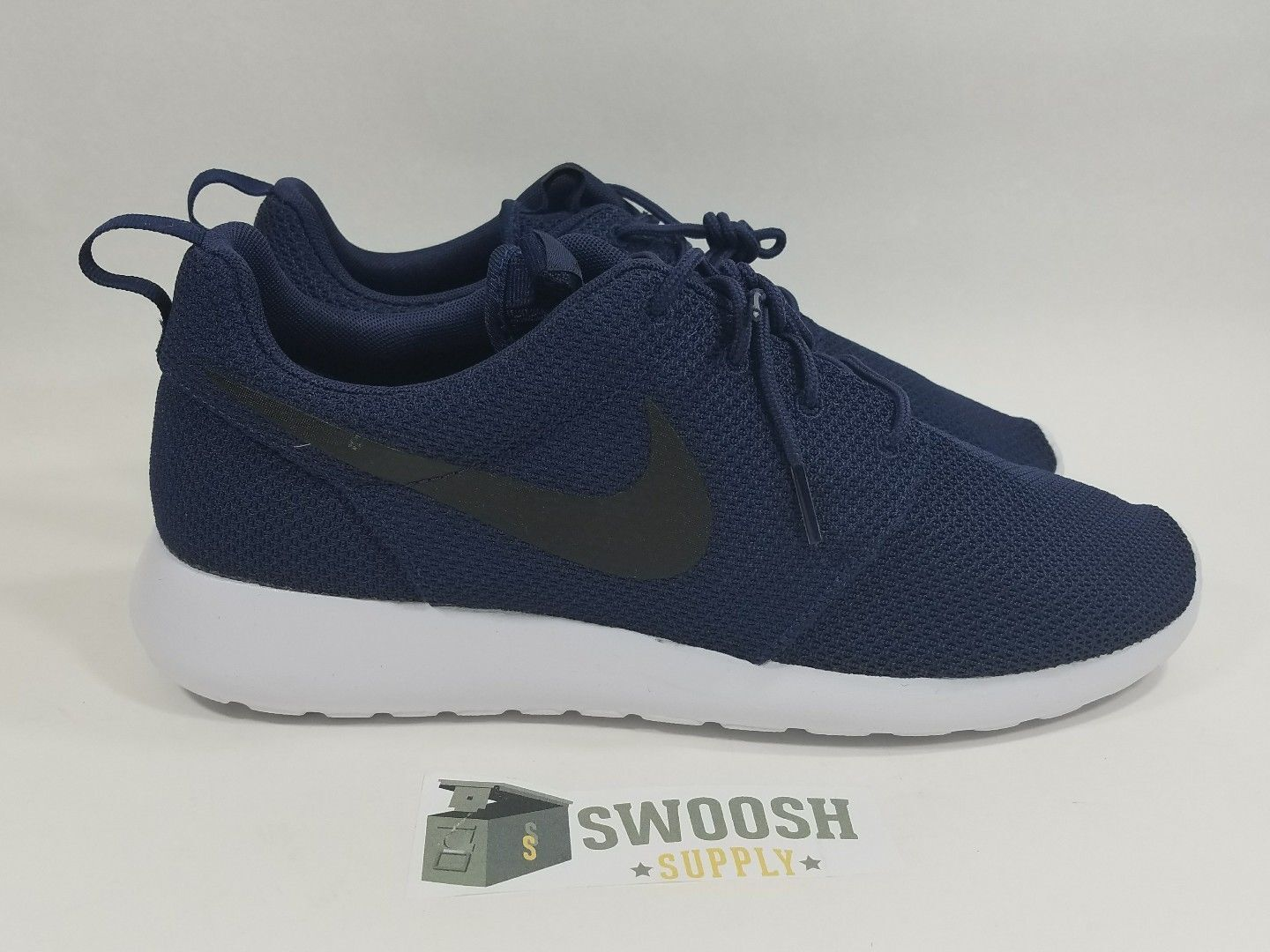 Nike Roshe Run MIDNIGHT NAVY blueE BLACK 511881-405 Size OG COLORWAY