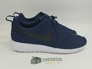 70ff5cae0122 Nike Roshe Run MIDNIGHT NAVY BLUE BLACK 511881-405 Size OG COLORWAY ...