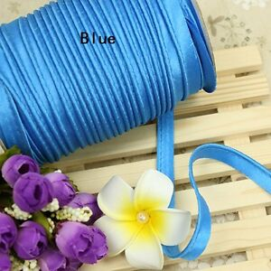 Insertion-Cord-Piping-Binding-Tape-Satin-Flanged-Rope-Sewing-Cloth-Crafts-Multi