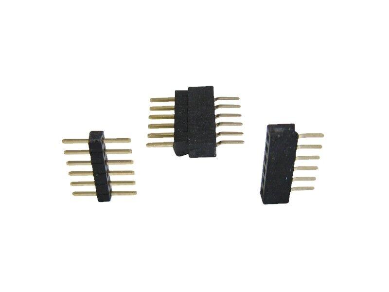 S438 - 10-pc micro Embase de connecteurs RM 1.0 6-POLIG + douille