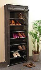 Meuble à Chaussures Armoire à étagère pliable Plateau de tissu avec 9 Dépôt