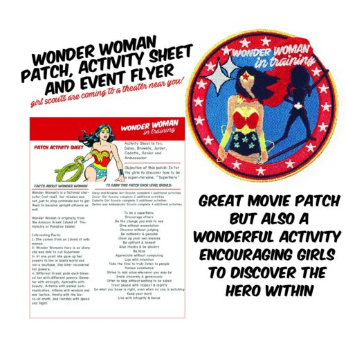 Wonder Woman Girl Scout in Training Activity Included Iron-On Applique