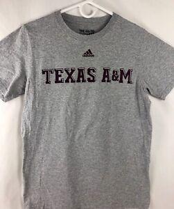 Adidas-The-Go-To-Tee-Texas-A-amp-M-T-Shirt-Gray-Maroon-Logo-Small-Aggies-SEC-EUC