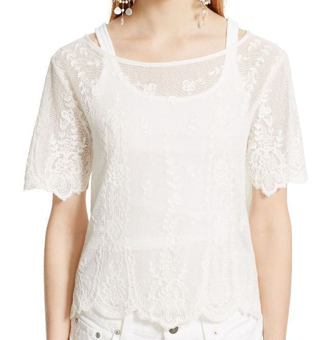 Boat neck Lace NEW Polo Ralph Lauren Woherren Blouse Top NWT Größe M
