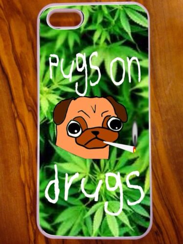 Weed Mops On Droge Cartoon Design neues IPhone 5//5 s Hülle Hund Kannabis