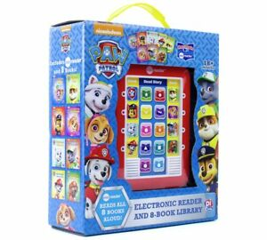 NEW-Nickelodeon-Paw-Patrol-Electronic-Reader-amp-8-Book-Read-Aloud-Library-Set