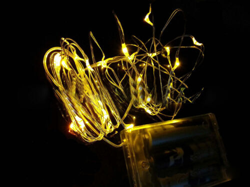 2M 20LED 3 X AA Battery Powered Silver Copper Wire Mini Fairy String Lights
