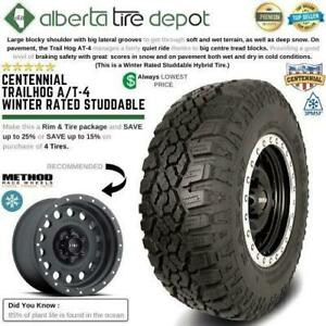 SALE Centennial TRAILHOG AT4 All Terrain Snow Tire Rims Fuel Method Black Rhino XD 265/75R16 275/60R20 275/65R18 AT/4 Alberta Preview