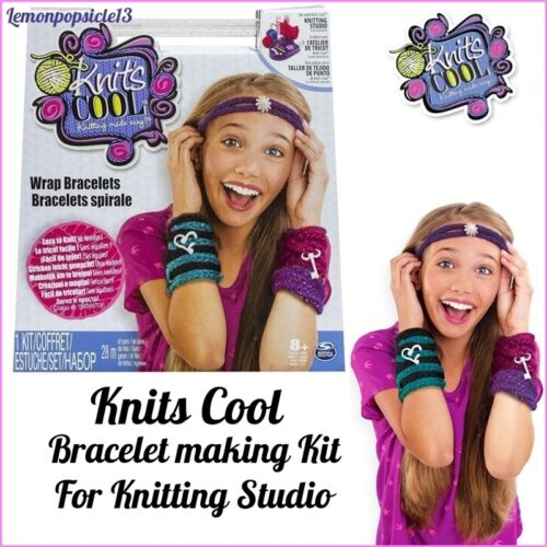 Knits Cool Wrap Bracelet Kit use with Knitting Studio Refill Project 8+