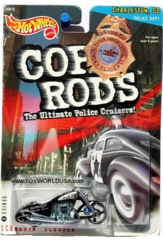 2000 Hot Wheels Cop Rods Series 2 Charleston SC Scorchin/' Scooter