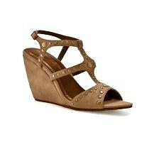 85 MATTY'S Dahl Wedge Sandals  NEW  Tan Suede  Größe 10 M