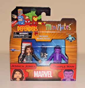 """Jessica Jones & Purple Man Minimates Marvel The Defenders Series 75 2"""" Figure"""