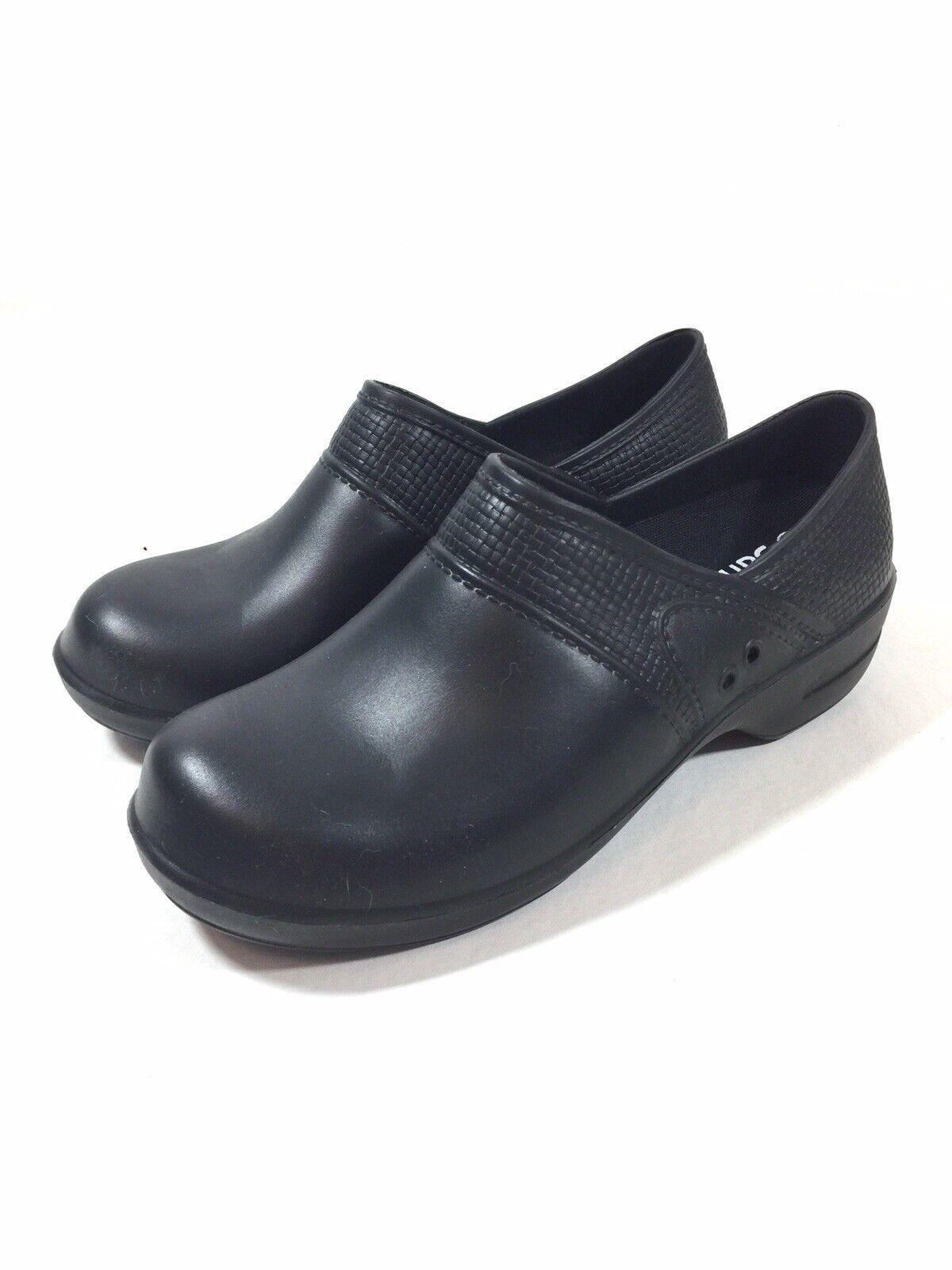 Sanita para Mujer Nuevo Sin Etiquetas Negro de goma antideslizante Zueco Zapatos Talla 41 EU 10.5 nos