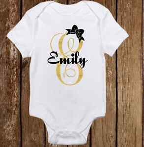 e3bc69c0f Image is loading Unique-Custom-Name-Cute-Baby-Girl-Clothes-Bodysuit-