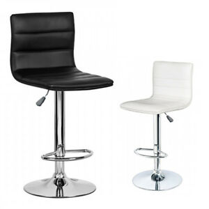 Details About New Pu Pvc Leather Bar Stool Kitchen Chair Gas Lift Swivel Black White Free Post
