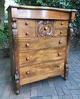 ANTIQUE CEDAR CHEST OF DRAWERS c1880 FREE MELB DELIVERY WITH BUY IT NOW!