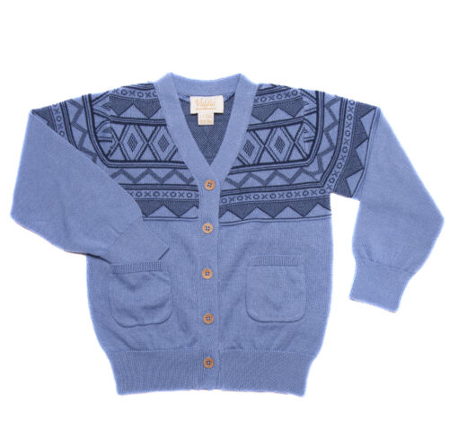 baby to 6 years old Designer V neck buttoned cardigan GOTS organic cotton