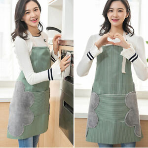 Am-KE-AF-Linen-Stripe-Sleeveless-Cooking-Cleaning-Apron-Wipe-Hand-Cover-Dustc