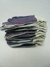 Lot Of 12 Boss Canvas And Split Leather Palm Glove 1jl0036