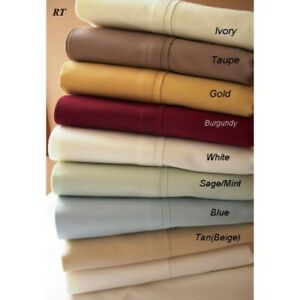 Australian-5-PCs-Split-Sheet-Set-Egyptian-Cotton-Solid-Colors-Cal-King-Size