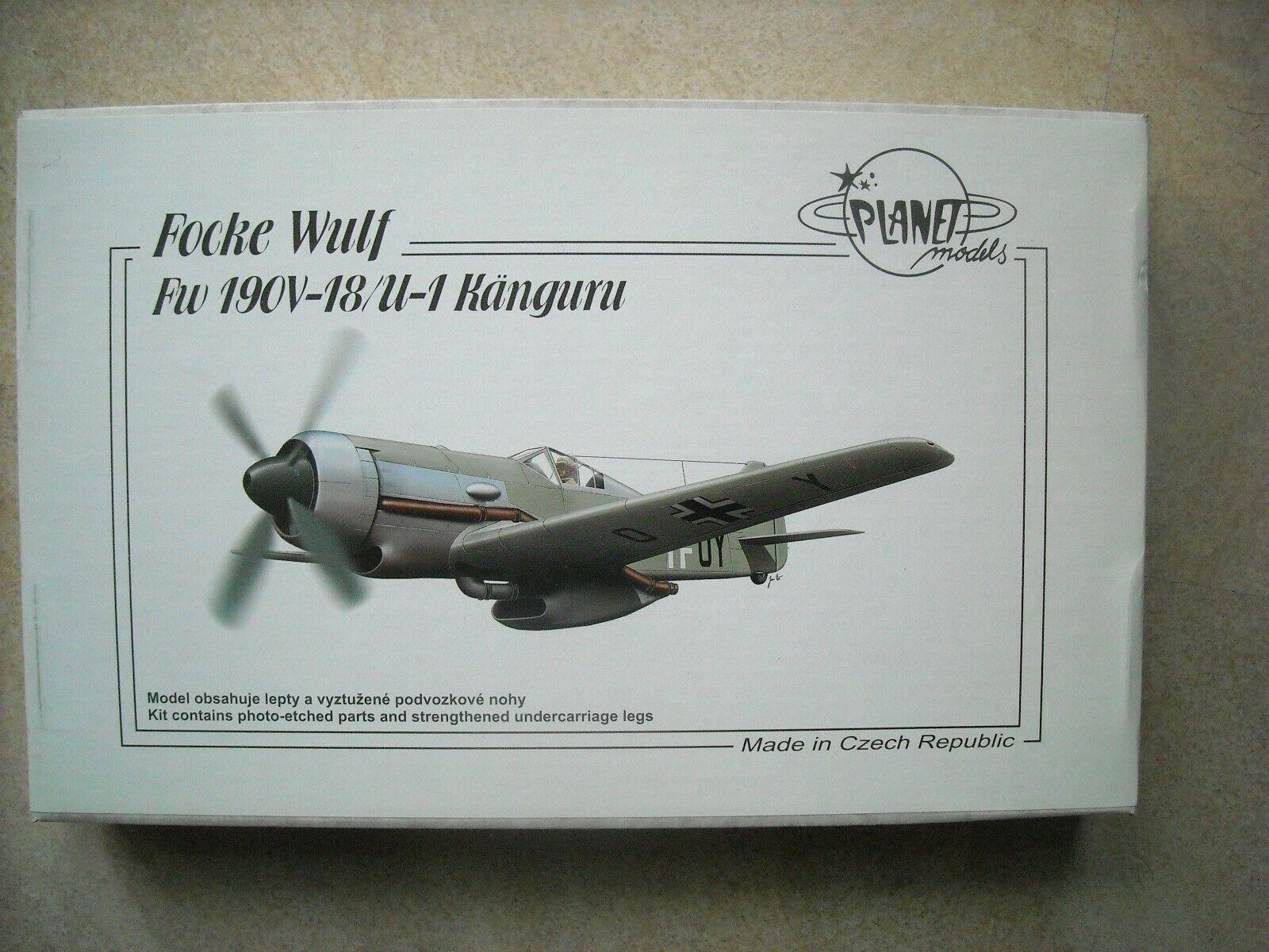 PLANET MODELS-1 48- 193-FOCKE WULF FW190V-18 U-1 KANGURU
