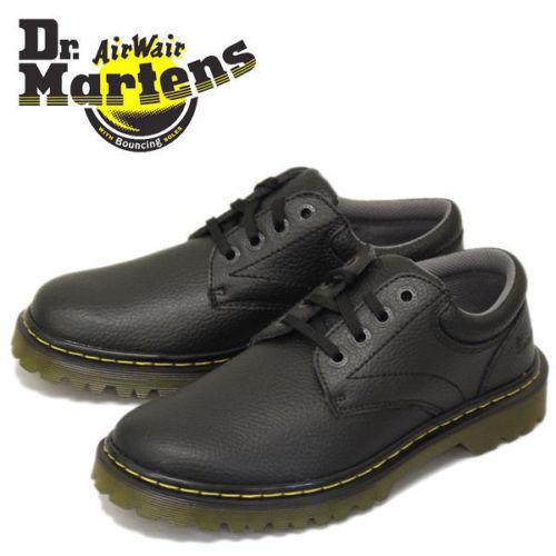 New Mens Doc Dr Martens Ashfeld Black Leather Shoes USA 12