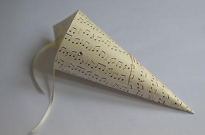 12 X Nota Musicale Matrimonio Pew Finisce, Appeso Decorazione, Corridoio Pew Finisce, Vintage-mostra Il Titolo Originale