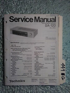 technics sa 120 service manual original repair book stereo receiver rh ebay com
