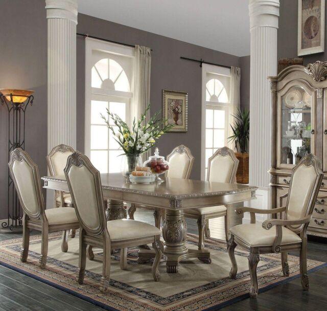Avignon Dining Room 7pc Set White Wash