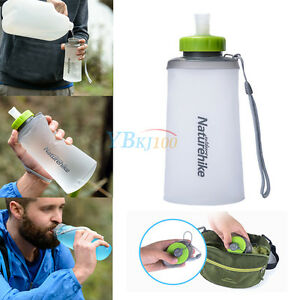 Collapsible Folding Silicone Sports Travel Water Bottle Portable Drinking Kettle