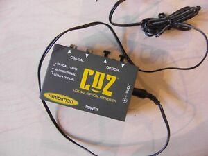 Vintage-CO2-Midiman-coaxial-optical-converter-mit-Netzteil-wie-neu